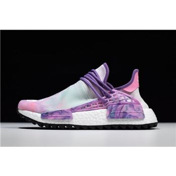 2018 Pharrell x Adidas NMD Hu Trail Holi Pink Glow/Flash Green-Lab Purple AC7362