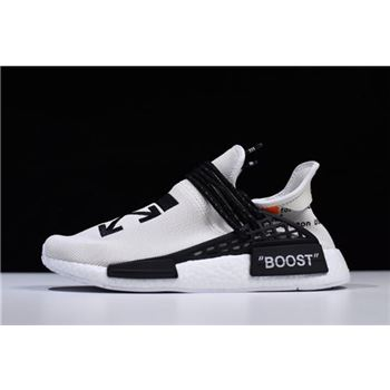 Virgil Abloh OFF-WHITE x Pharrell x Adidas NMD Hu Race Trail Light Grey/Black-White F99768
