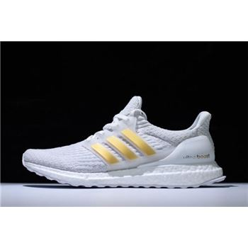 New Adidas Ultra Boost 3.0 White Gold BA7680